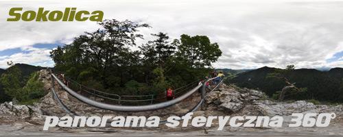 panorama sferyczna - Sokolica w Pieninach